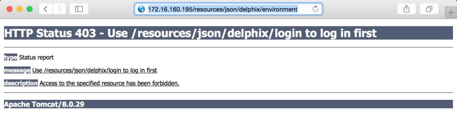Delphix RESTFul APIs Command Line Basics