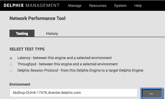 Network Performance Test Tool Interface
