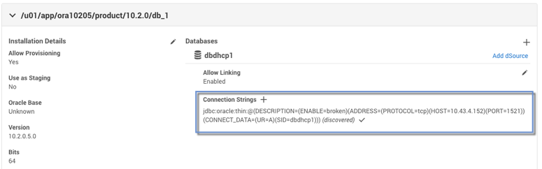Verifying the JDBC Connection String
