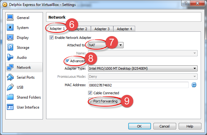 Setting Up Networking in VirtualBox - Landshark - Delphix